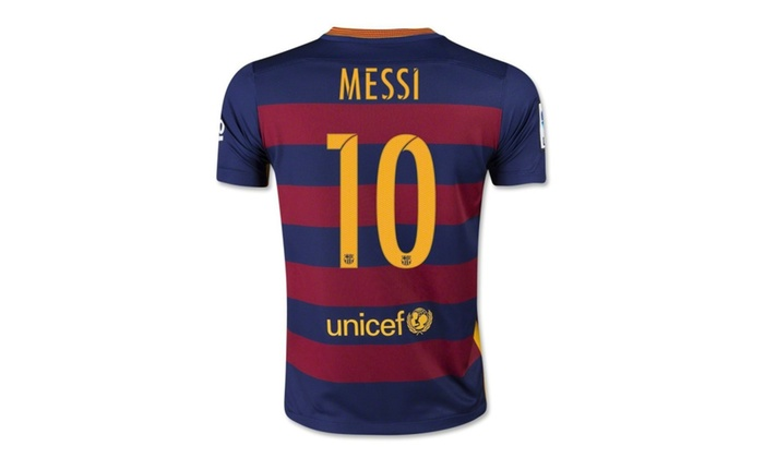 pick up 6aeb1 39a91 America Chivas FC Barcelona Number 10 Lionel Messi Home Jersey