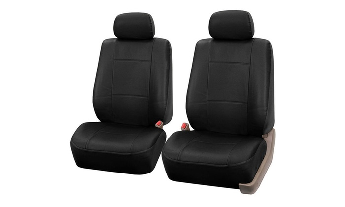 Up To 56% Off on Faux-Leather Bucket Seat Covers   Groupon Goods