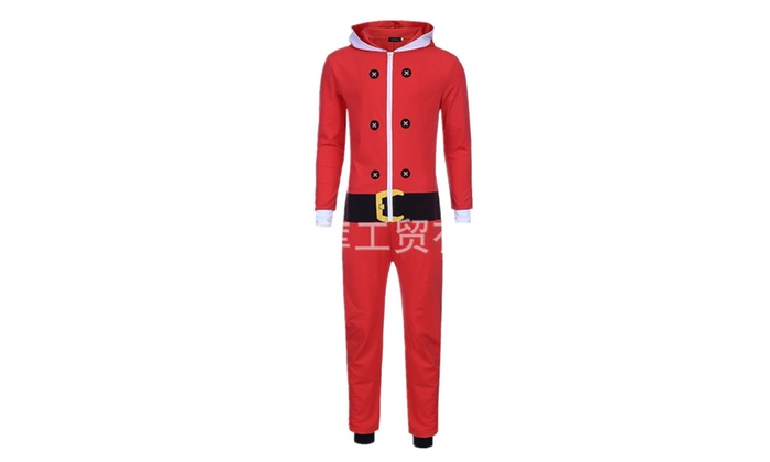 df07d5a1c5 Limz Adult Unisex Elf Santa Cosplay Outfit Onesies Pajamas Romper ...