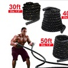 "1.5"" 30/50 ft Battle Rope Strength Power Fitness Training Gym Workout"