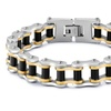 316L Stainless Steel Black Gold Colors Wristband Bracelets