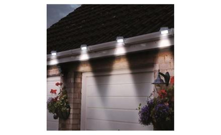 4-Pack: Solar Powered Gutter LED Lights