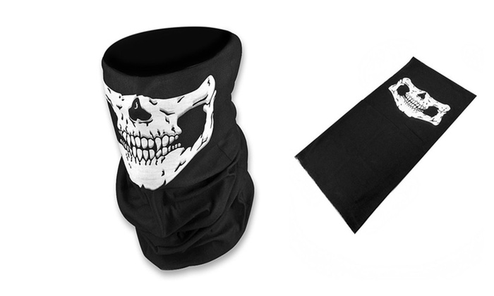 Amazingly Breathable Seamless Skull Face Half Mask