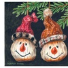 The Colorful Garden Holiday Snowman Doormats