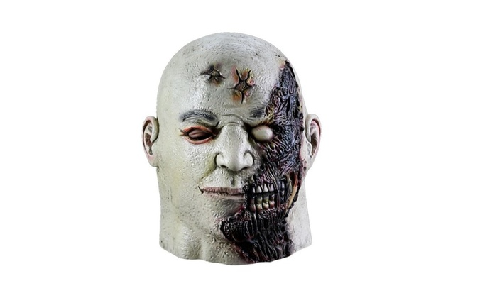 Crazy Zombie Scary Mens Halloween Latex Masks Costume Cosplay Party