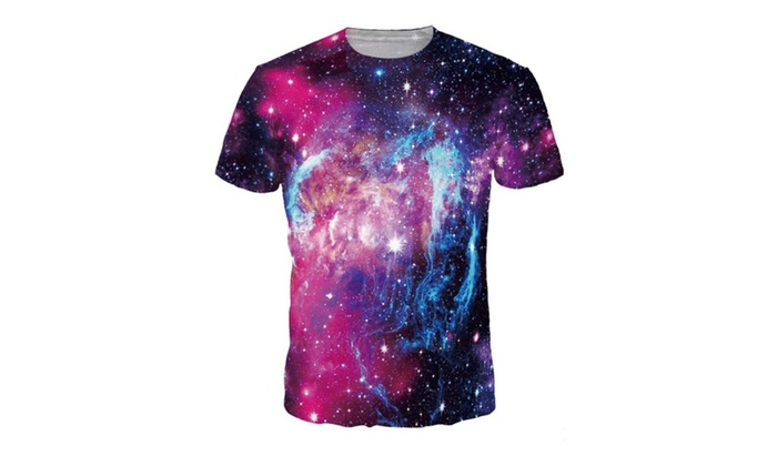 4PING Men's Colored Stars Digital Printing T-shirt Shirt Sports Tees