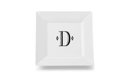Carolines Treasures CJ1058-DSP115 Letter D Initia Ceramic Platter photo