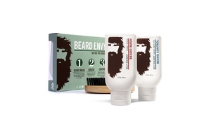Billy Jealousy Beard Envy Set with Brush (3-Piece)