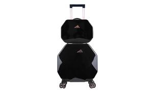 KENSIE Gemstone Spinner Luggage with TSA Lock & Luggage Cover