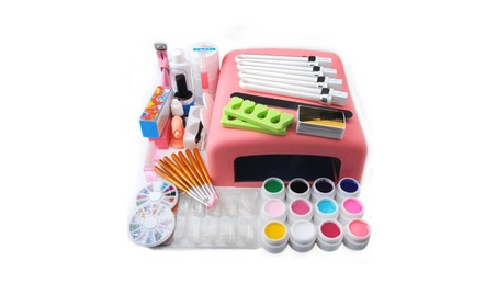 US Nail Art Tools Set 36W UV Lamp Dryer 12 Color UV GEL nails 7019868f-ed9e-4eb3-84c7-ef8af6567ebd