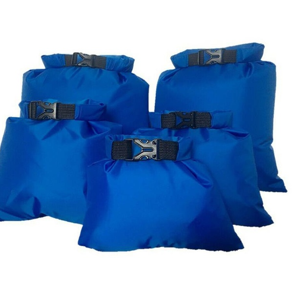 5pcs//Set Dry Bag Outdoor Beach Buckled Storage Sack Camping Travel Drifting Bags