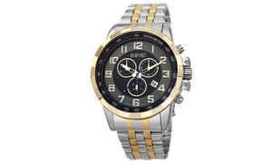 August Steiner Men's Steel Swiss Chronograph Watch ASGP8118TTG
