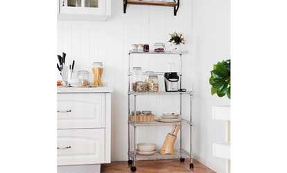 Shop Groupon Costway 3 Tier Kitchen Bakeru0027s Rack Microwave Oven Stand  Storage Cart