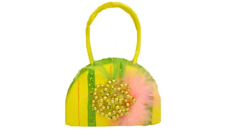 Yellow Beaded Princess Purse Christmas Ornament (Goods For The Home Seasonal Décor) photo