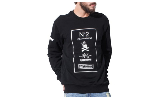 Men's Casual Printed Long Sleeve Pullover Graphic Sweatshirt
