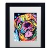 Dean Russo 'Bosco' Matted Black Framed Art