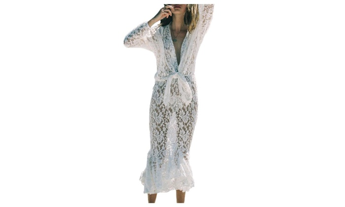 Women's Vanguard European Style Loose Cover-Ups Cover-Ups  - White / One Size