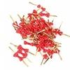 50pcs Metallic Ties for  Bag Biscuit Cookies Decoration Red