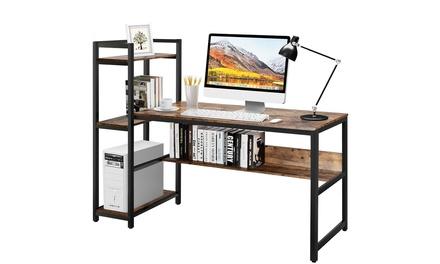 Costway Multi-Functional Computer Desk with 4-tier Storage shelves
