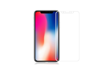 iPhone X Premium Tempered Glass Full Screen Protector White b8296c59-8fb5-4d7d-a53a-5b18a901decc