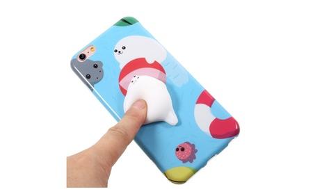 3D Cute Soft Silicone Poke Squishy Seal iPhone 7 Case 589ec20c-d9da-4374-b975-914d2555d299