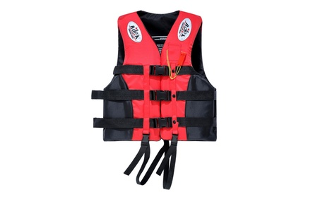 Red Portable Waterproof Oxford Clothes Life Jacket Size XXL - fe8bd14c-ed6c-4285-9658-9e15b0db270c