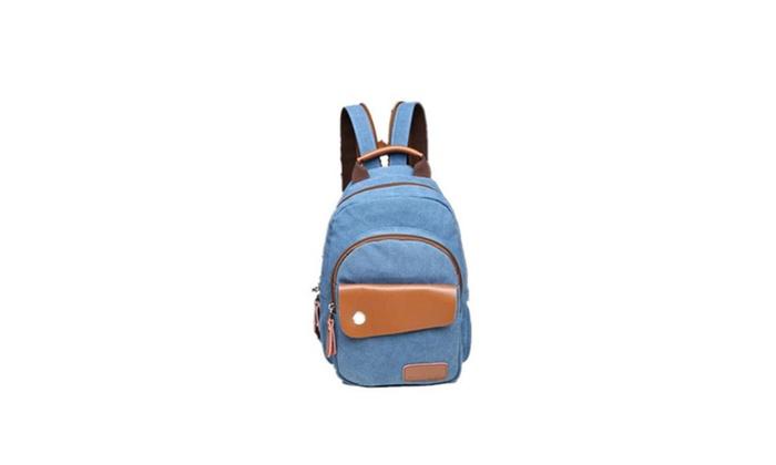 Vintage Small Canvas Sling Rucksack Backpack Ipad Bag