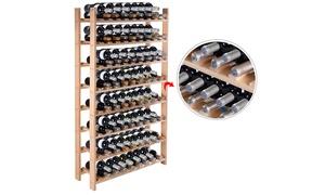 Wood Wine Rack Stackable Storage Storage Display Shelves (120-Bottle)