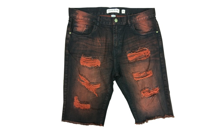 Denim Distressed Distroyed Ripped Shorts