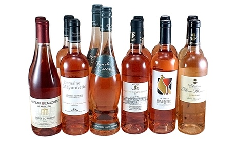 12 Mixed Bottles of Dry French Rose's