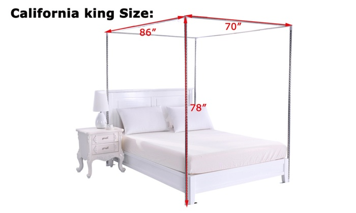 4 Corner Bed Thicken Encryption Canopy Mosquito Net Queen// King //California King