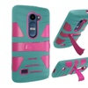 Insten Hard Hybrid Case For Lg Destiny/leon/tribute 2 Teal/hpink