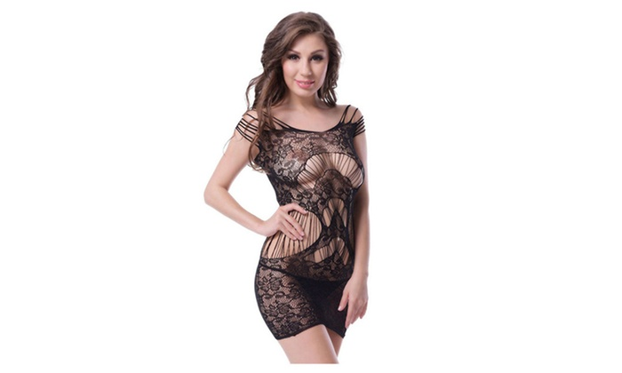 8ded105d042 Women Lace Plus Size Lingerie Body Stocking Underwear Sex Night Gown