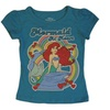 Disney Ariel Women's Mermaid At Heart Tee Turquoise T-shirt