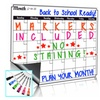 Oversize Monthly Dry Erase White Board With List Organizer