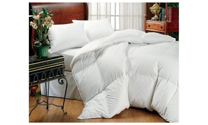 super king size white down alternative comforter 120 x 98 groupon. Black Bedroom Furniture Sets. Home Design Ideas