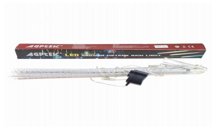 AGPtek 50CM Meteor Shower Rain Tube Snowfall LED Light – Cool White