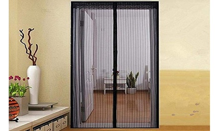 Bug-Out Magnetic Mesh Screen Door - Keeps Bugs Out - Animal Friendly