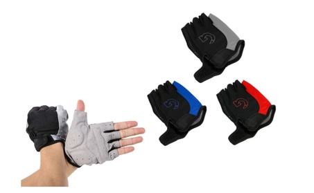 Ultra-Padded Cycling Motorcycle MTB Bike Bicycle Half Finger Gloves cd628af7-081b-47d4-b161-cedee80e6cb2