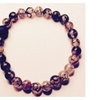 Men's Natural Healing Stone Bracelet Dragons Vein Agate With Lava Bead