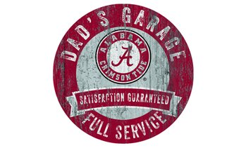 "Fan Creations 12"" NCAA Distressed Dad's Garage Sign"