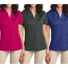 Ladies Plus Size Moisture Wick Performance Snag Resistant Polo Womens