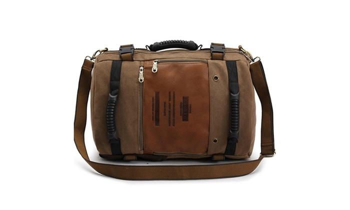 Men's High Capacity Traveling Leisure Waterproof Canvas Shoulder Bag