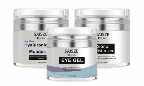 3 in 1 Kit Retinol Moisturizer Eye Gel & Hyaluronic Acid Moisturizer Cream