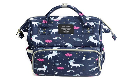 Mommy & Baby Multifunction Navy Waterproof Travel Unicorn Diaper Bag - Navy b0416633-b7a7-4e04-9fed-6ccf1b8507bf