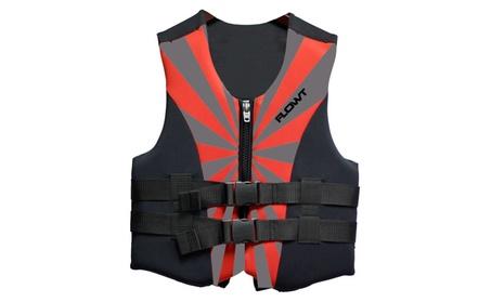 Flowt All Purpose Character Life Vest, Red - Lightweight Neoprene 57179f2e-21d0-4306-8ba1-187b4942e75d