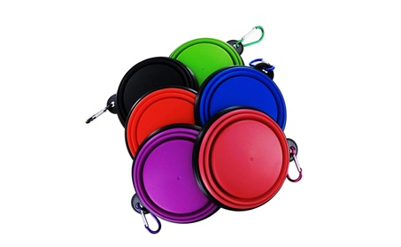 2-pk Small Collapsible Pet Feeding Drinking Travel Bowl Cup Combo Kit 04c2710f-4dc1-4694-9d73-deaa327140f9
