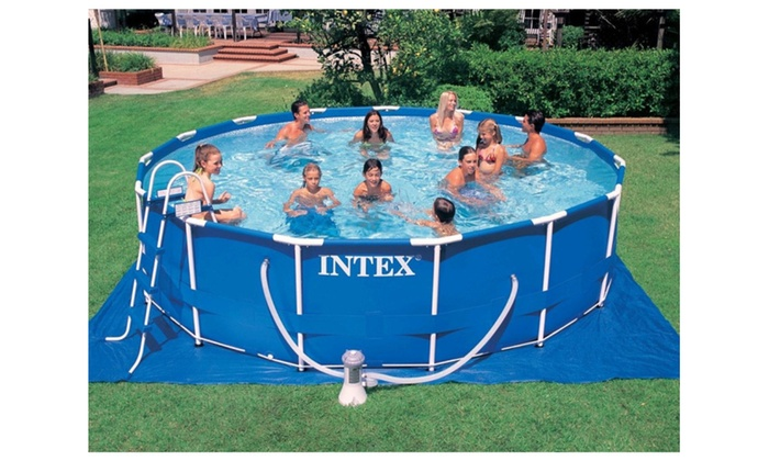 parkshop intex 15 x 48 metal frame swimming pool set w 1000