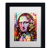 Dean Russo 'Mona Lisa' Matted Black Framed Art