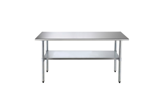 Uenjoy X Stainless Steel Commercial Kitchen Work Table - Stainless steel commercial work table 30 x 72